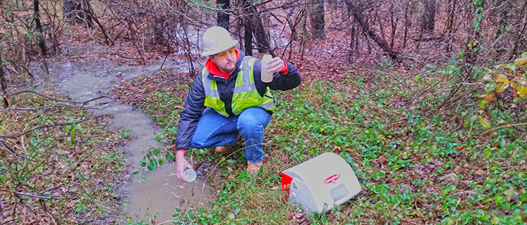 Can I take my own stormwater samples?